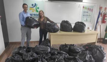Vítimas das chuvas de Santa Leopoldina recebem doações do SINPRO/ES Solidário