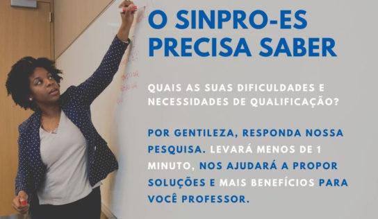 SINPRO/ES Pesquisa