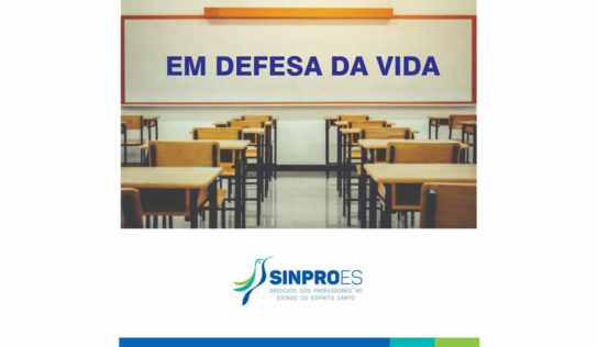 SINPRO/ES em Defesa da Vida