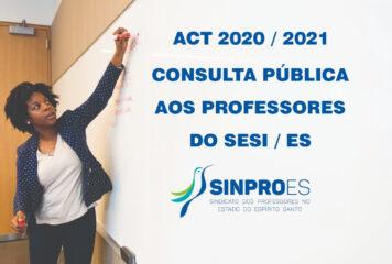 CONSULTA PÚBLICA AOS PROFESSORES DO SESI