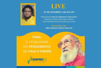 A ATUALIDADE DO PENSAMENTO DE PAULO FREIRE