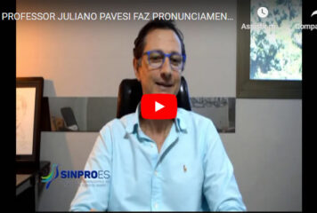 PROFESSOR JULIANO PAVESI FAZ PRONUNCIAMENTO DE FINAL DE ANO