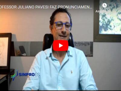 PROFESSOR JULIANO PAVESI FAZ PRONUNCIAMENTO DE FINAL DE ANO
